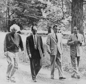 Einstein, Yukawa, J.A.Wheeler, Hoemi Babha